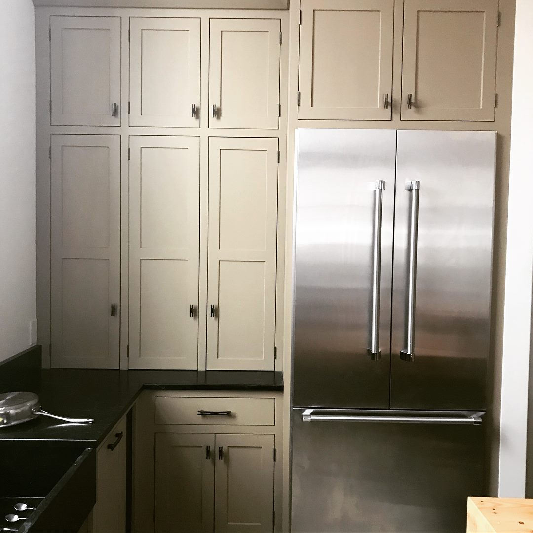 Custom Painted Kitchen With Soapstone Sink and Countertop ...